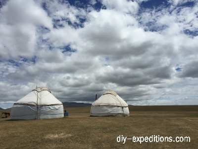 Steppe und Yurt in Kirgisistan