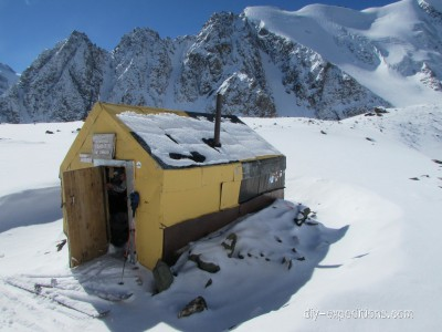 Bivvy shelter winter Siberia